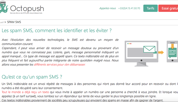 Rédaction web blog Octopush